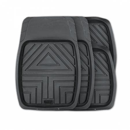 "Коврик ""AUTOPROFI Arrow"" TER-110 BK ванночки, 100% резина, L, термо, 4 предмета, черный"