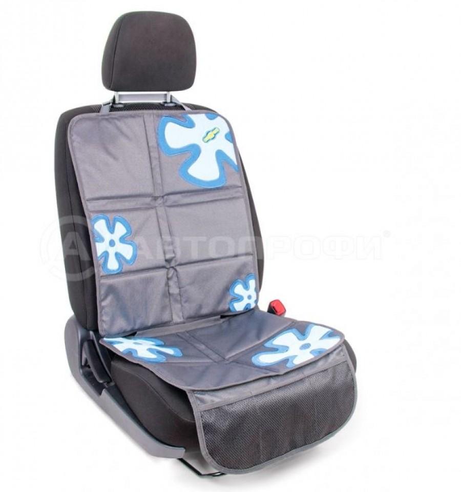 """Защитная накидка под детское кресло """"AUTOPROFI Смешарики"""" SM/COV-020 GY/BL серый/синий"""