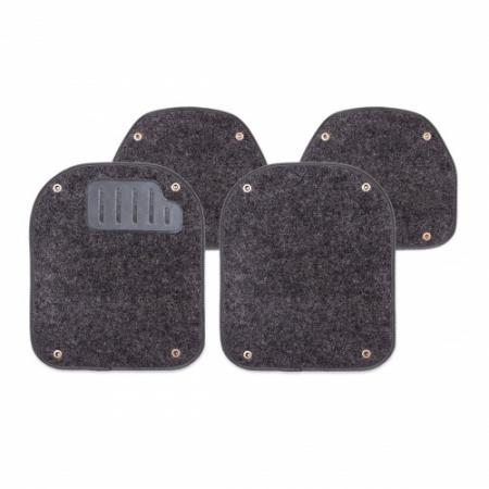 """Вкладыш """"AUTOPROFI"""" PET-500 I BK ковролиновые для ковриков, комплект 4 предмета, черный"""