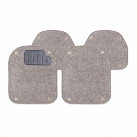 """Вкладыш """"AUTOPROFI"""" PET-500 I GY ковролиновые для ковриков, комплект 4 предмета, серый"""