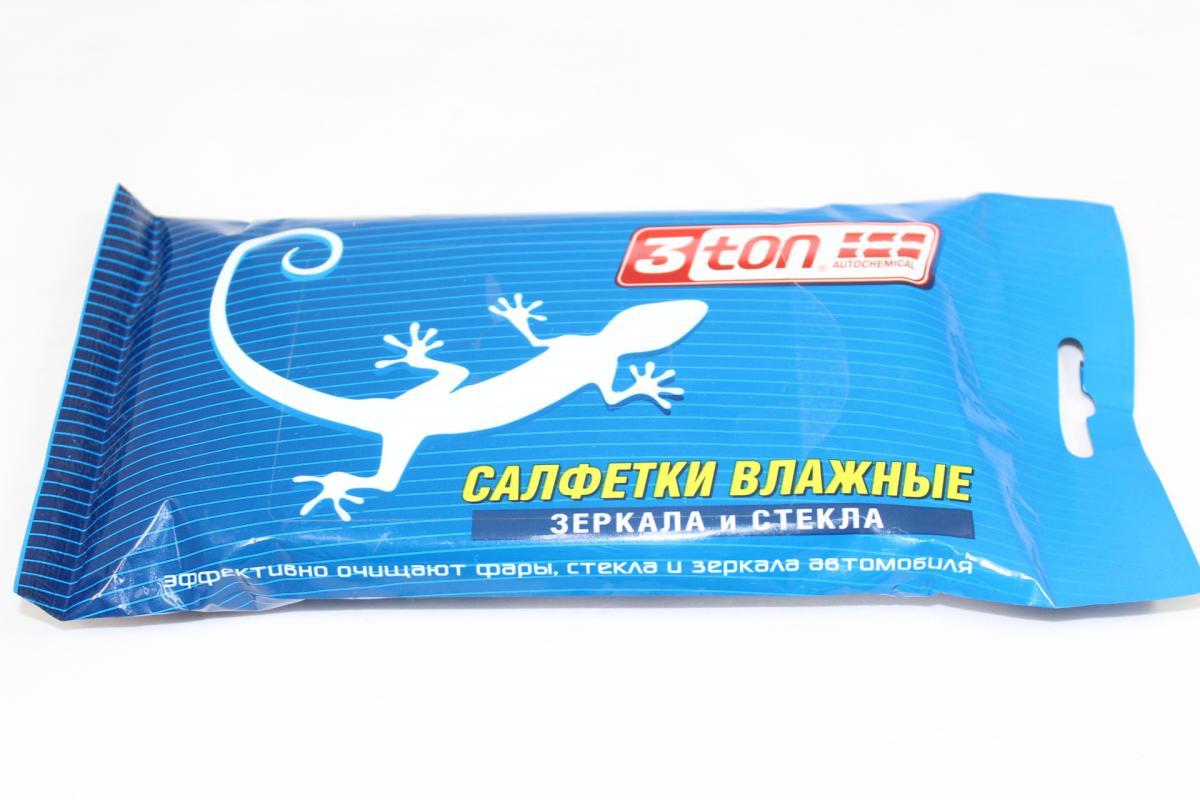 """Салфетки влажные """"3ton"""" для зеркал и стекол ТХ-251"""