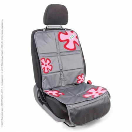 """Защитная накидка под детское кресло """"AUTOPROFI Смешарики"""" SM/COV-020 GY/RD серый/красный"""