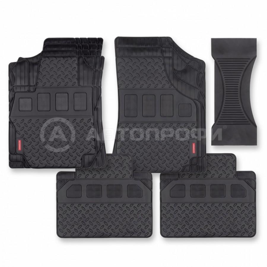 """Коврик """"AUTOPROFI 1 решение на 400 моделей"""" MAT-710 BK 5 предметов, ПВХ, черный"""