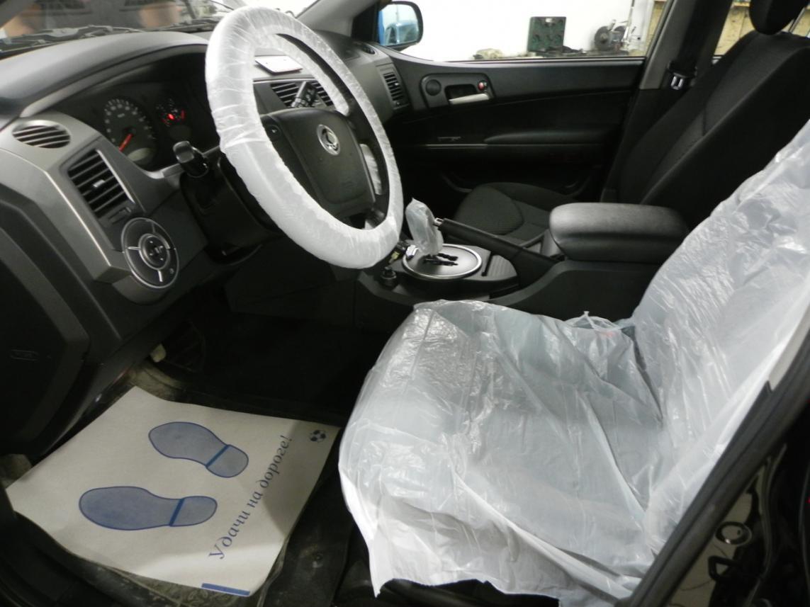 Набор защитных материалов (на сидение, коврик, чехол на руль, КПП, тормоз)