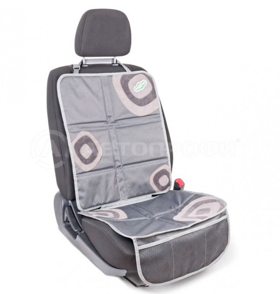 "Защитная накидка под детское кресло ""AUTOPROFI Смешарики"" SM/COV-020 GY/GY серый"