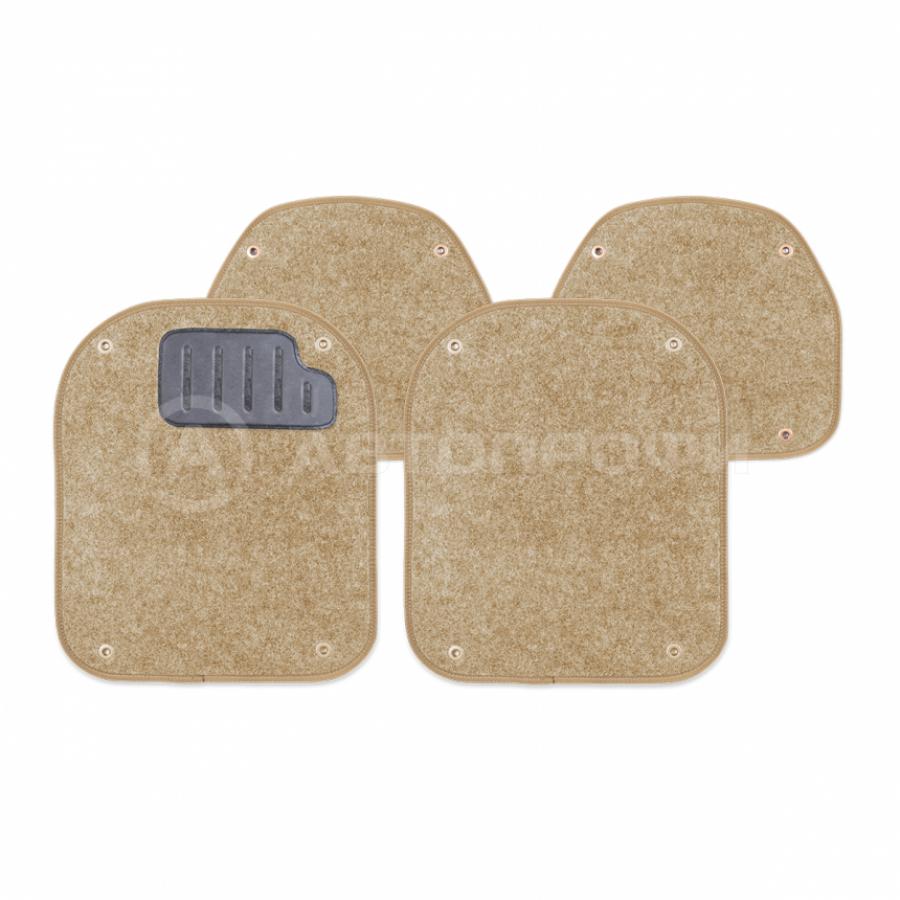 """Вкладыш """"AUTOPROFI"""" PET-500 I BE ковролиновые для ковриков, комплект 4 предмета, бежевый"""