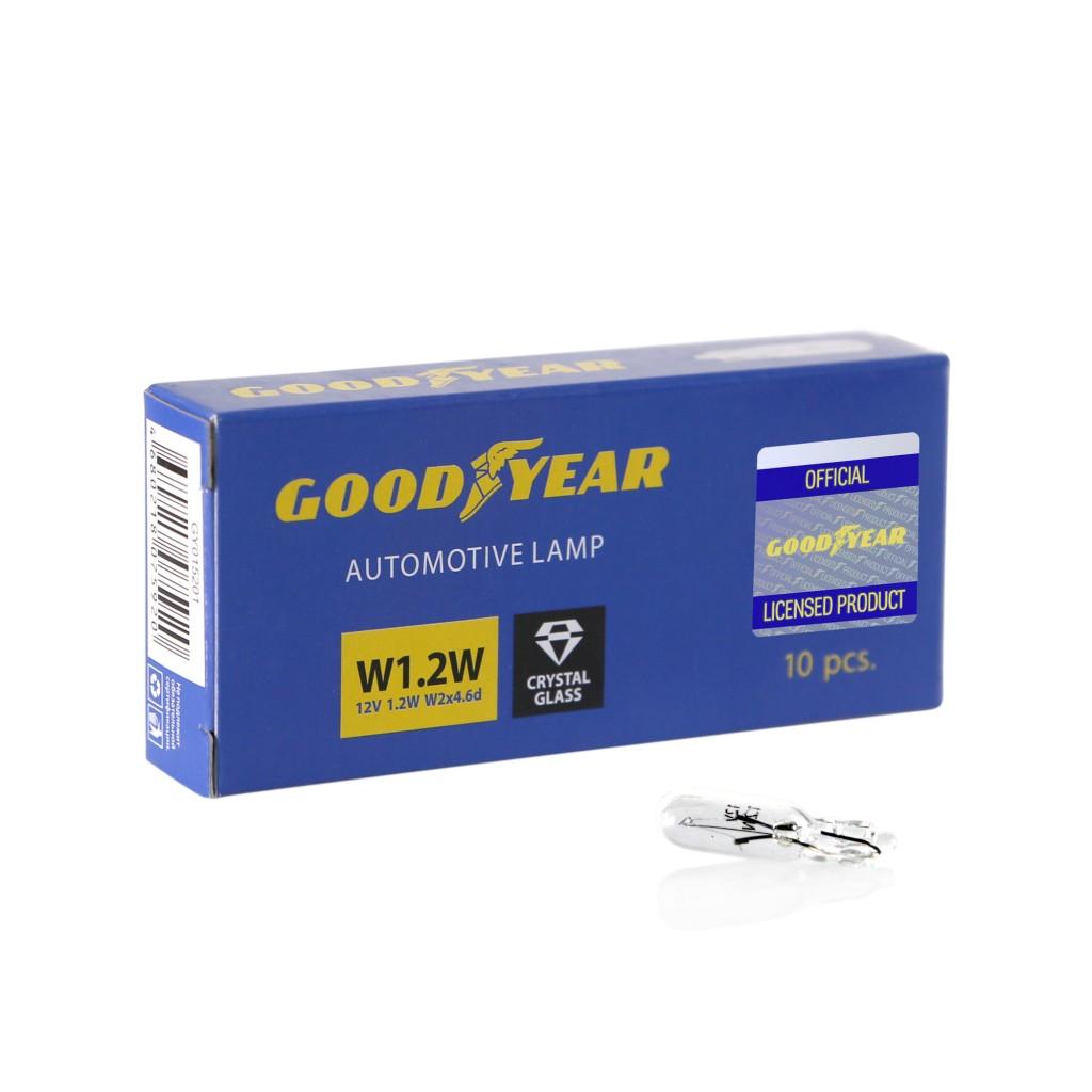Автолампа Goodyear W1.2W 12V 1.2W W2x4.6d GY015201